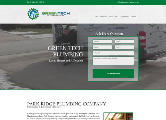 green tech web design