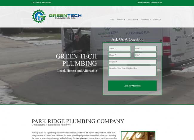 green tech web design